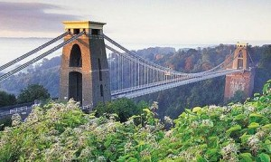Clifton Suspension Bridge spans the Avon Gorge