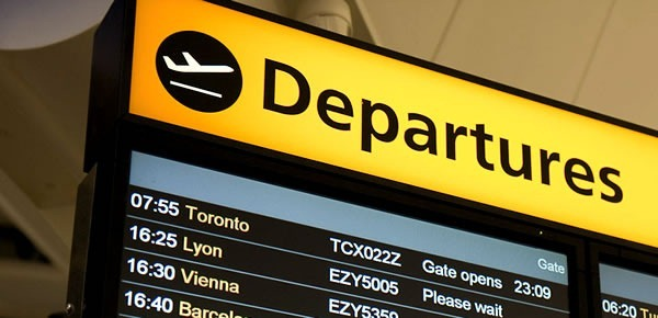 fear of flying hypnotherapy - departures sign in airport